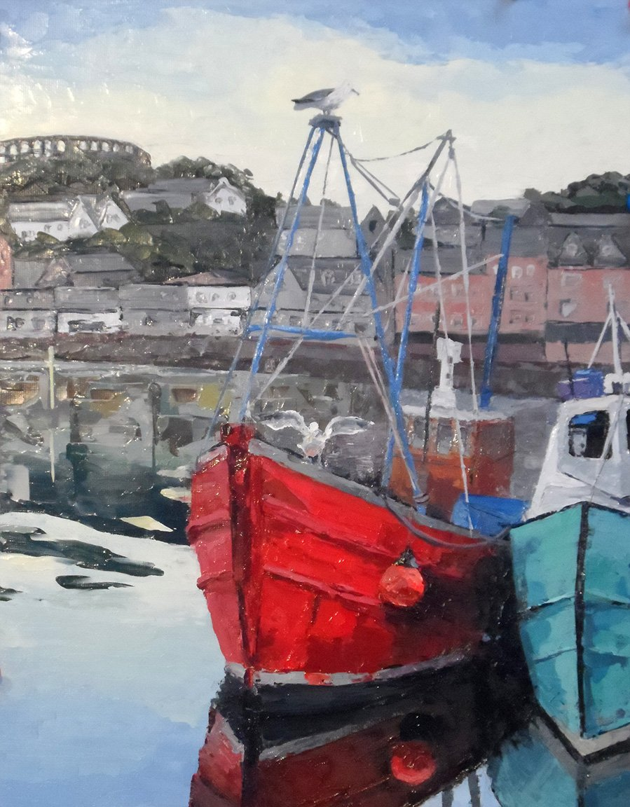 Oban Harbor (2015) - Private Collection