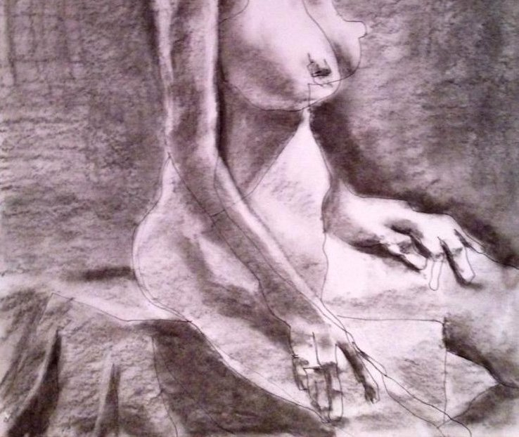 Seated Nude detail2