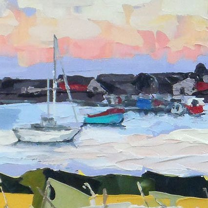 Oil Paining Findhorn Bay Scotland