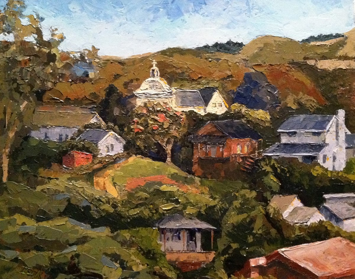 View from the Tracks (2012) Davenport, California - Private Collection