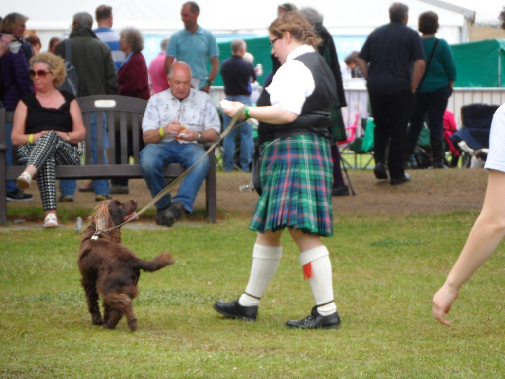 Girl kilt dog
