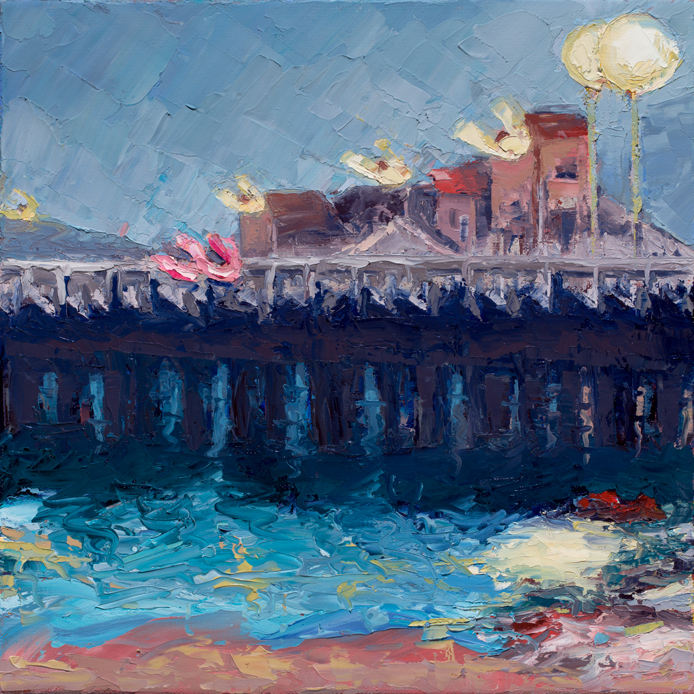 Santa Cruz Wharf Fog (2017) - Private Collection