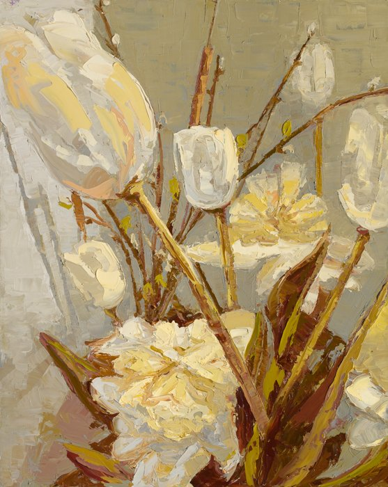 White Tulips (2018) - Private Collection